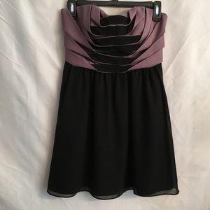 BCBG Size 2 Lilac and Black Mini Dress